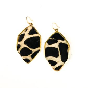 Leopard Print Earrings Black