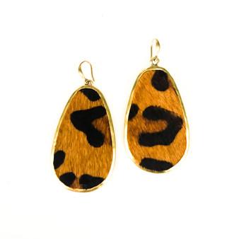 Leopard Print Earrings Brown