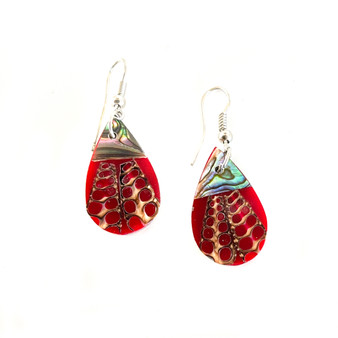 Mother of Pearl Earrings Dewdrop Small