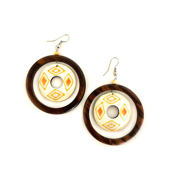 Wood Circle Earrings