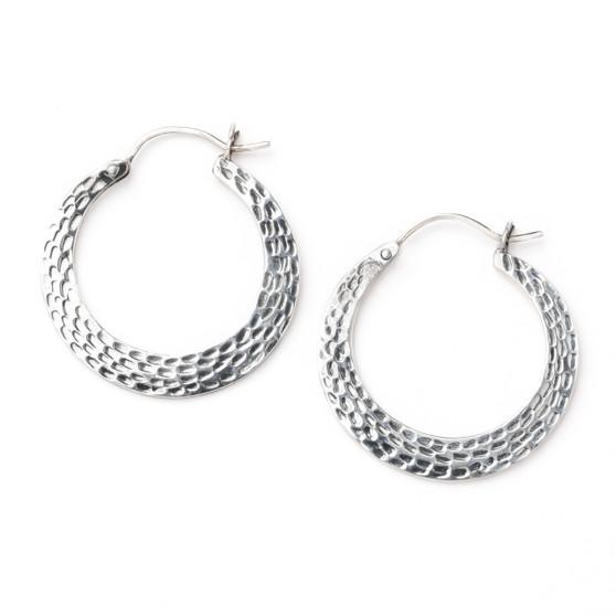 Hammers Hoops Sterling Silver Earrings