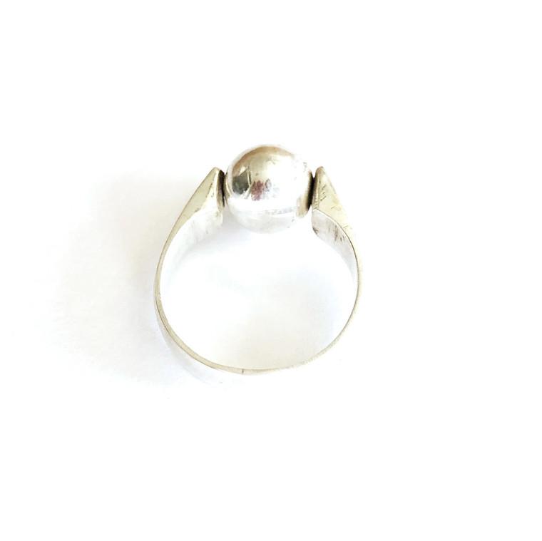 Globe Ring Sterling Silver