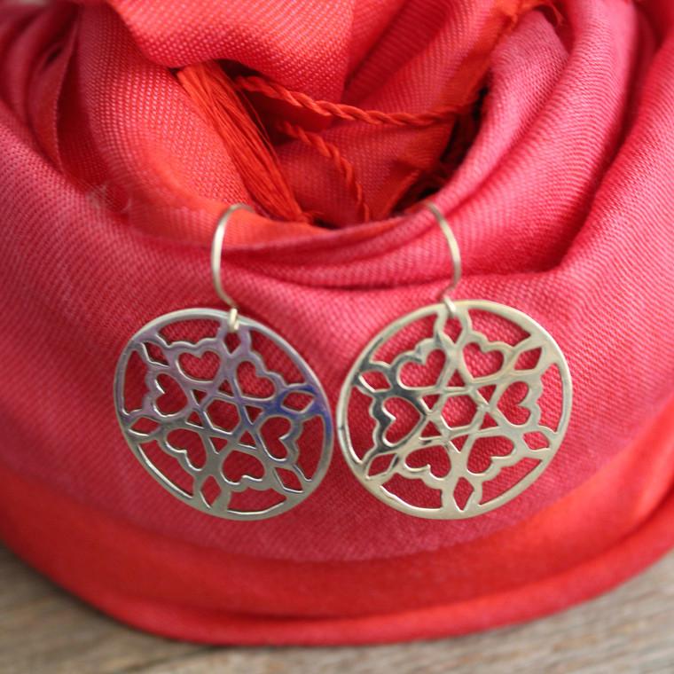 Hearts Sterling Silver Earrings