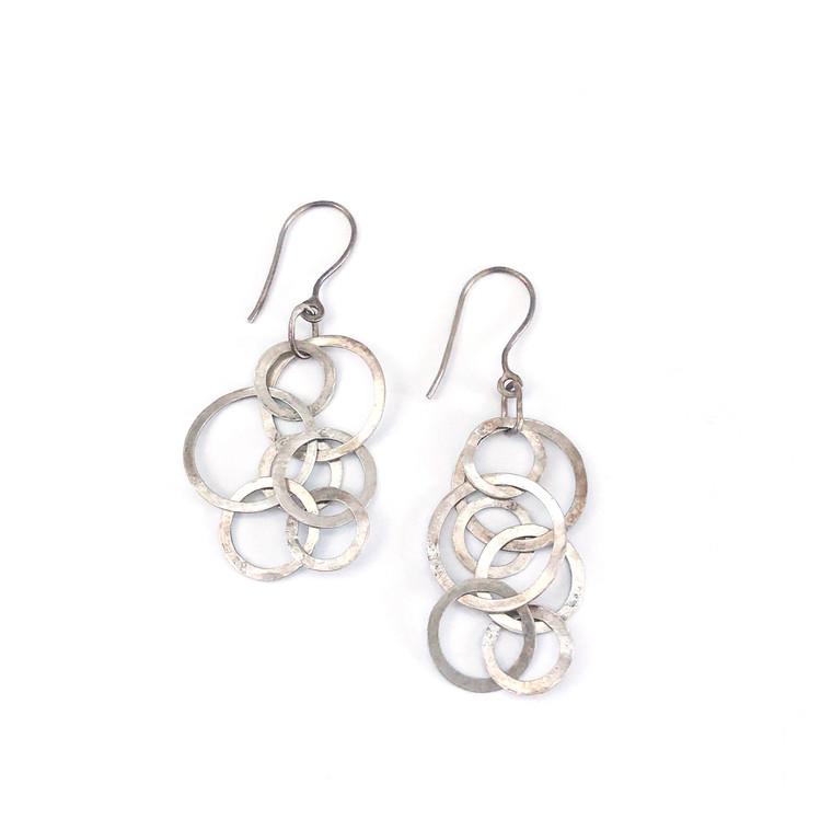 Circles Sterling Silver Earrings