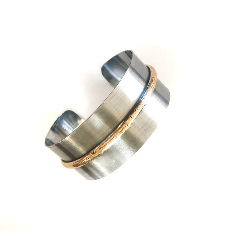 Geena Stainless Steel Dual Bracelet Cuff