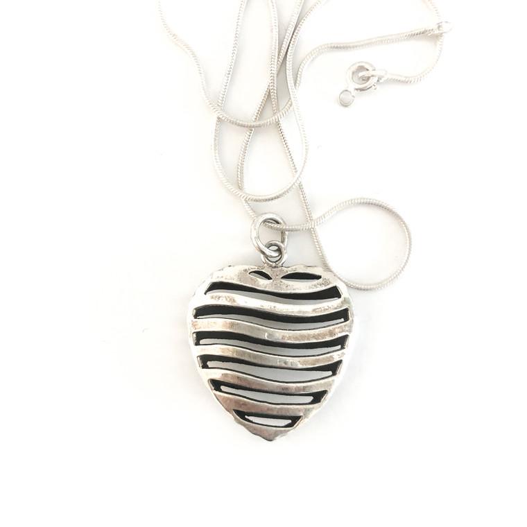 Open Dubble Heart Sterling Silver