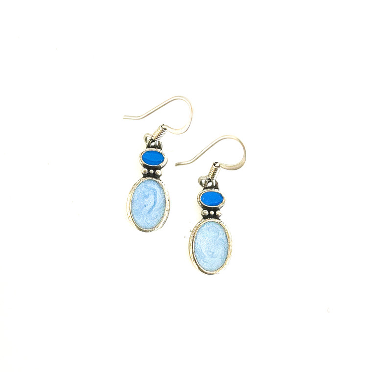 Fusion Winter Wire Pewter Earrings