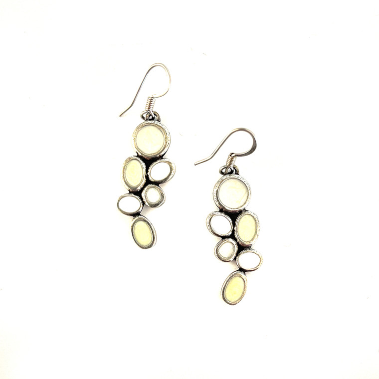 Lindy Wire Earrings White