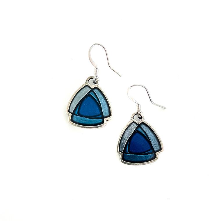Trinity Wire Pewter Earrings
