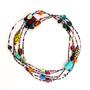 Neha Necklace Long Multi Colors