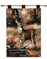 FOREST BUCK W/VERSE -PIC-26X36 WALL