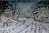 """23.75'' """"White Christmas """" LED Picture Canvas"""