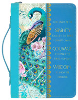 Divine Details: Bible Cover Peacock Print