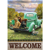 """""""Truck Bed Pups"""" DuraSoft™ Large Flag"""