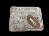 Awesome Football Player Stone