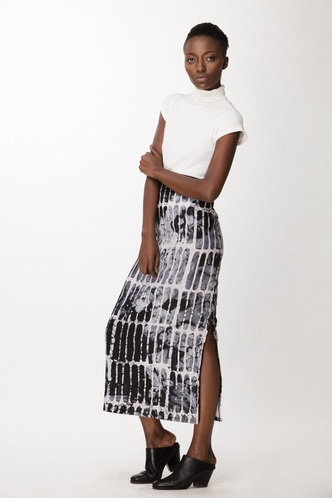 Column Skirt, Black Chalk