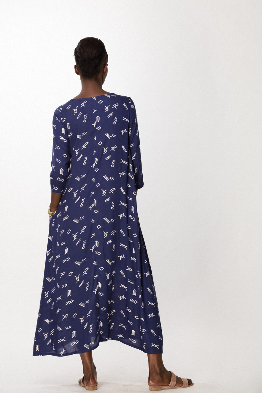 Nima Dress, Cobalt Jot
