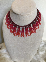 Coral Ceremonial Native Beaded Necklace