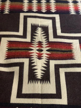 Eco-Alpaca Blend Otavalo Blanket- Inca Cross