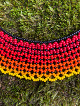 Collar Necklace - Red Life Seeds