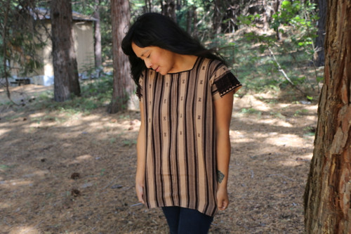 Huipil Blouse Cacao