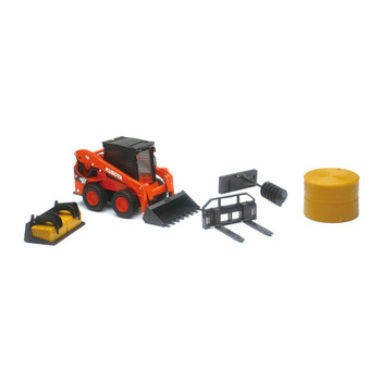 Kubota SSV65 Skid Steer Loader and Attachments