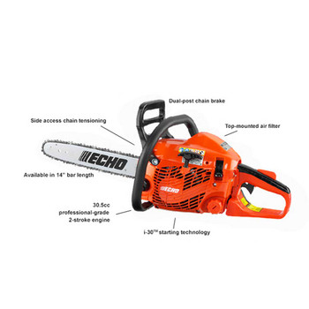 Echo 30.5 cc Chain Saw with i-30 Starter Features