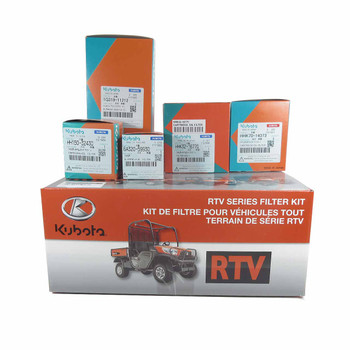 Kubota RTVX Series Filter Kit. Fits: RTVX900. Filter Kit includes Engine, Transmission, Outer Air and Fuel Filters.