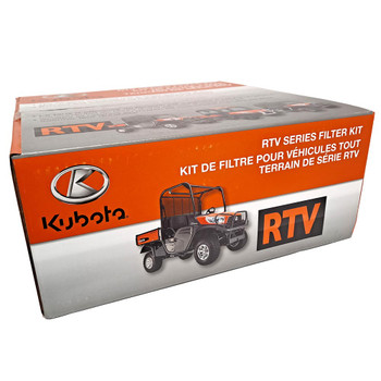 Kubota 77700-08715 RTV-X Series Filter Kit. Fits: RTV-X900. Filter Kit includes Engine, Transmission, Outer Air and Fuel Filters.