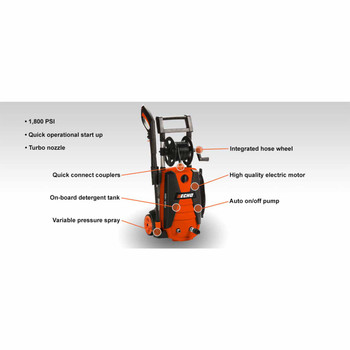 Echo PWE-1800 1,800 PSI Pressure Washer Callout