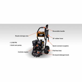 Echo PW-3100 3,100 PSI Pressure Washer Callout
