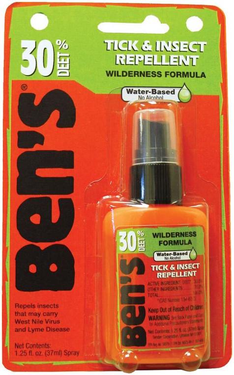Ben's 30% Tick & Insect Repellent 1.25oz. Pump Spray