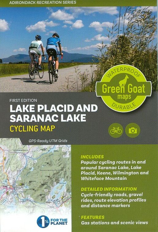 Lake Placid & Saranac Lake Cycling Map
