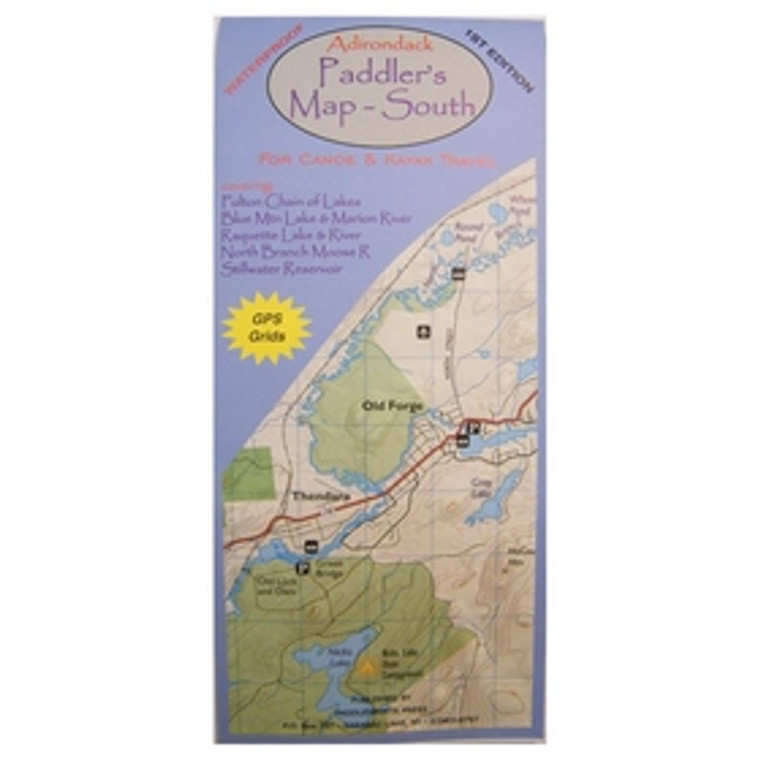 Adirondack Paddler's Map - South