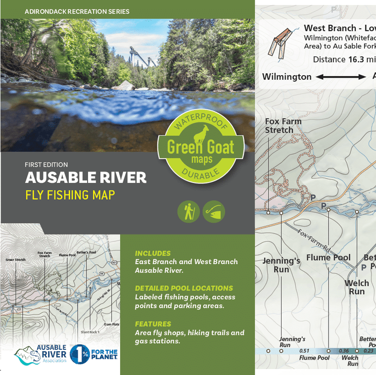 Ausable River Fly Fishing Map