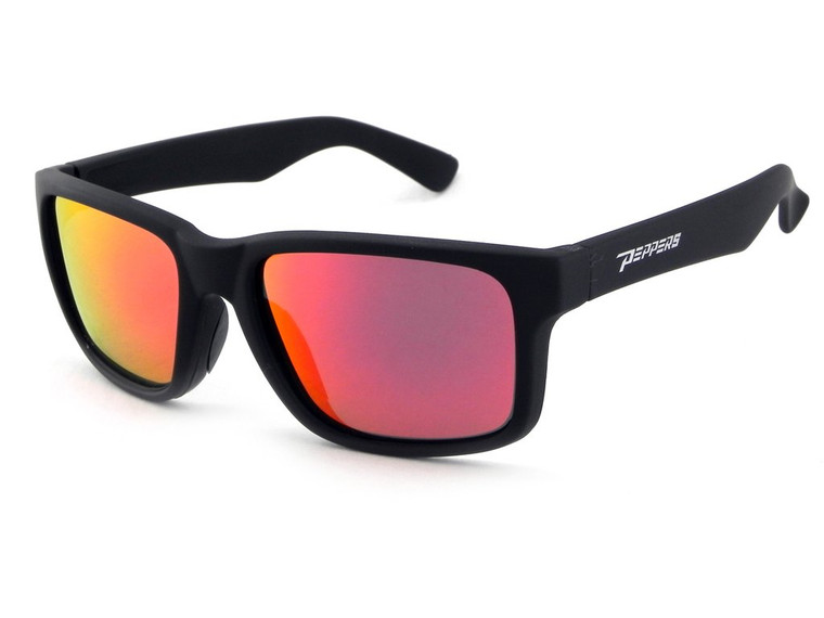 Beachcomber Sunglasses Matte Black/Red Mirror