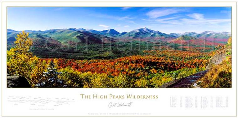 Fall Panorama Of The High Peaks