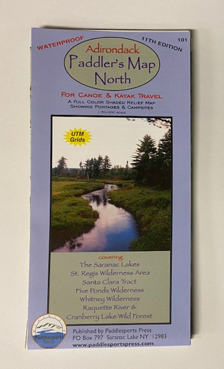 Adirondack Paddler's Map North #101 11th Edition