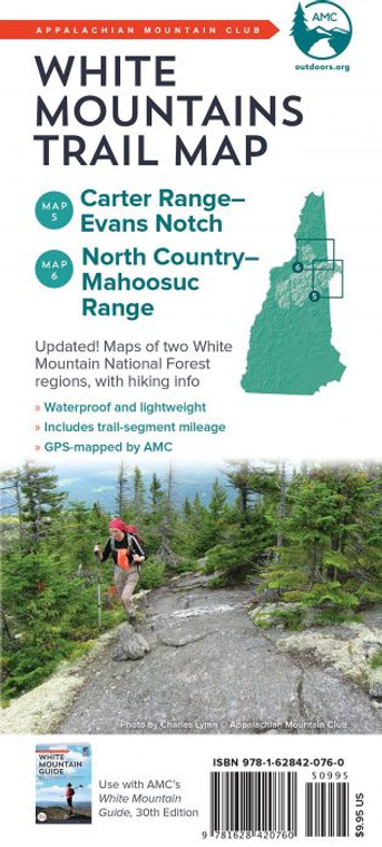 AMC White Mountains Trail Map Carter Range-Evans Notch
