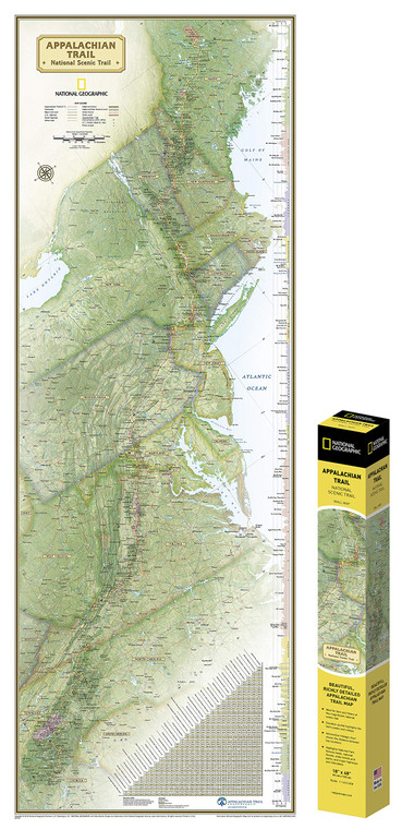 Appalachian Trail Reference Map- Boxed