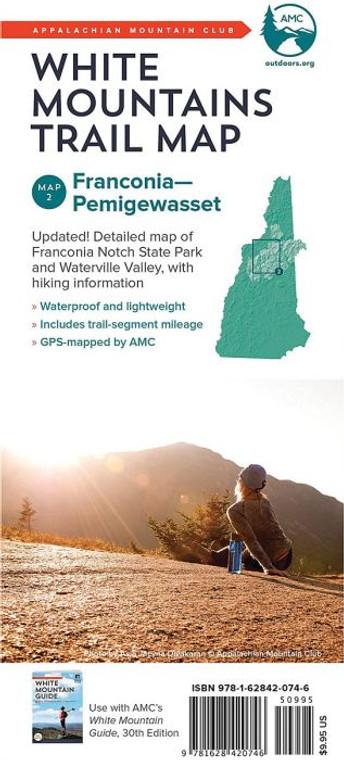 AMC White Mountains Trail Map Franconia-Pemigewasset