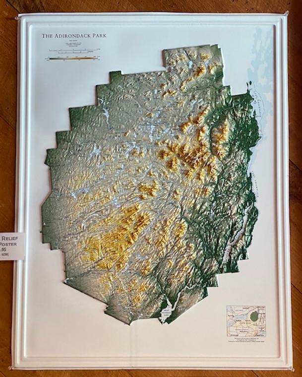 Adirondack Raised Relief Map