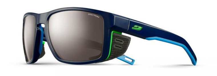 Shield Sunglasses Dark Blue/Blue/Green Frame with Spectron 4 Lenses