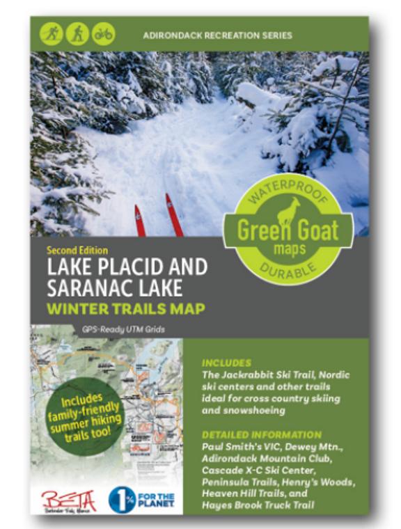 Winter Trails Map - Lake Placid And Saranac Lake Second Edition