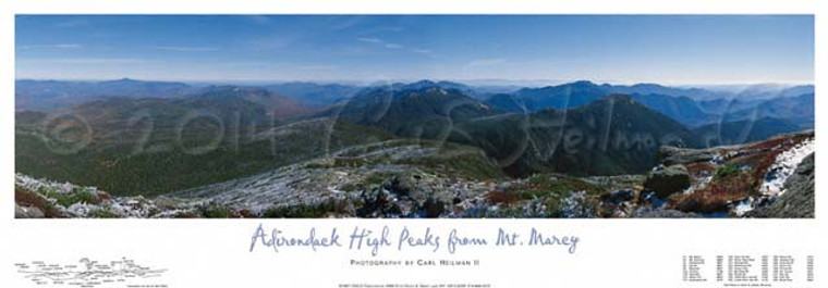 Mount Marcy North and East View Poster