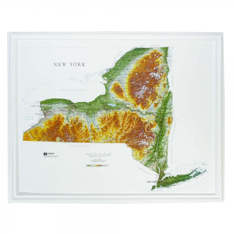 New York Raised Relief Map