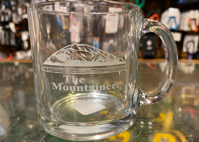 Clear Mountaineer Logo Mug 13oz.