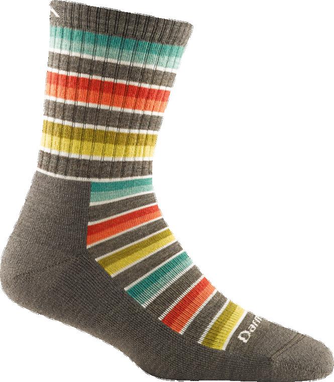 Women's Decade Stripe Micro Crew Midweight Hiking Sock (1994)
