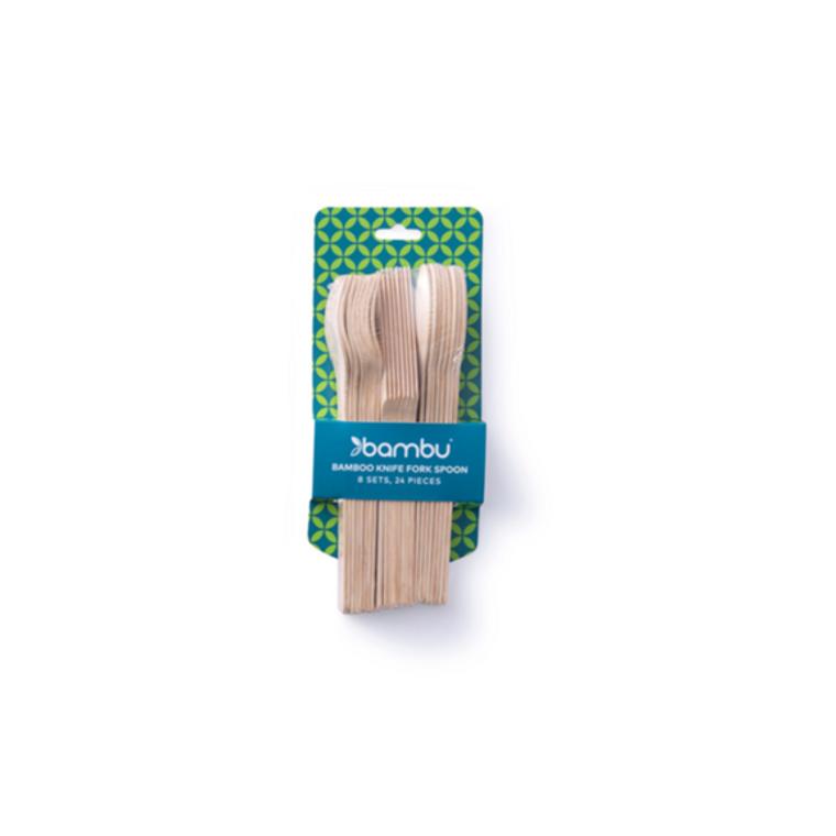 Veneerware Bamboo Cutlery Sets
