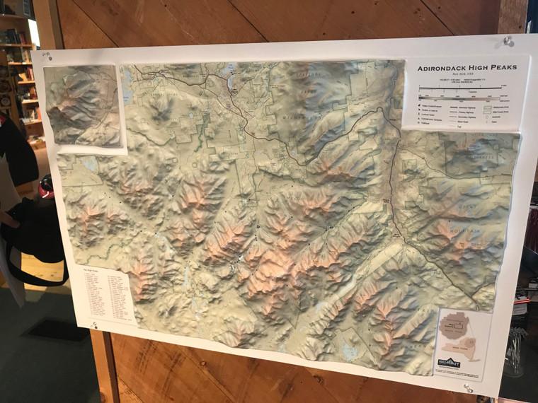 Adirondack High Peaks 3D Relief Map